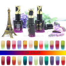 24 Colors Nail Gel Polish Temperature Change Chameleon Color Changing UV Gel Nail Polish Long Lasting