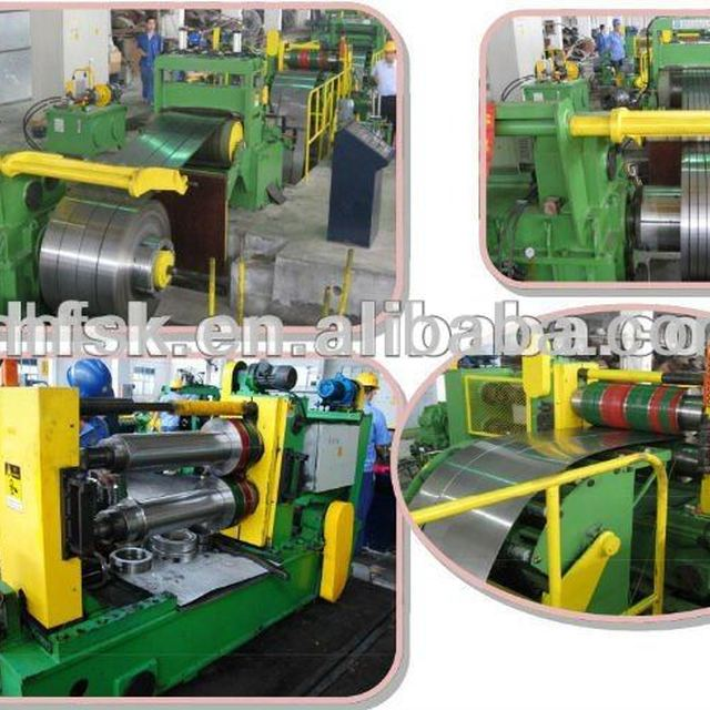 Used Cut To Length Line HFSL-2*1300 high speed steel sheet coil cutting machine