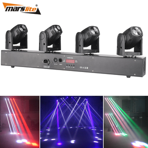 Guangzhou 4-Head 10W RGBW 4in1 Led Stage Light DMX Luces Disco Party dj Moving Head Stage Lighting