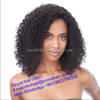 Short Darling Synthetic Afro Curly Hair Extensions Braids Blonde