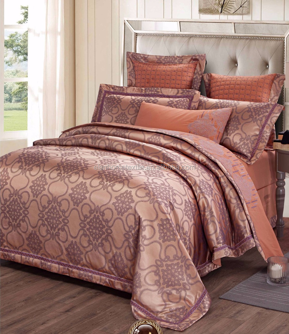 Cotton Jacquard Design Duvet Cover Set Cheap forter