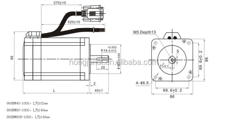 عالية الجودة Leadshine NEMA 23 مصد حلقي مغلق المحرك CL57 + 57CME23