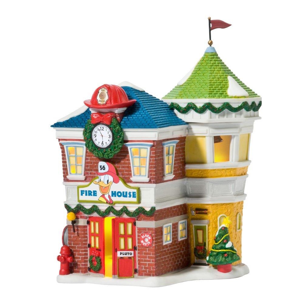 Department 56 Disney Village Lit House, Donald's Fire Station