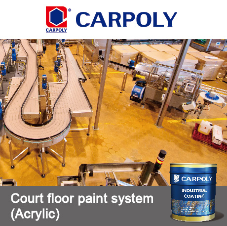 Carpoly Water-based epoxy floor paint system, floor coating