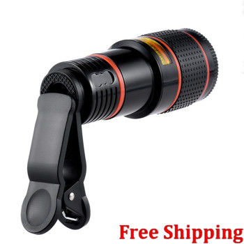 Universal 12 X ZOOM Optical 12 Times Zoom Mobile Phone Telescope Camera clip LENS For iPhone Samgsung