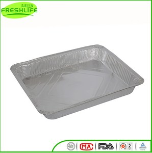 China manufacture aluminum foil container takeaway deep aluminum foil tray