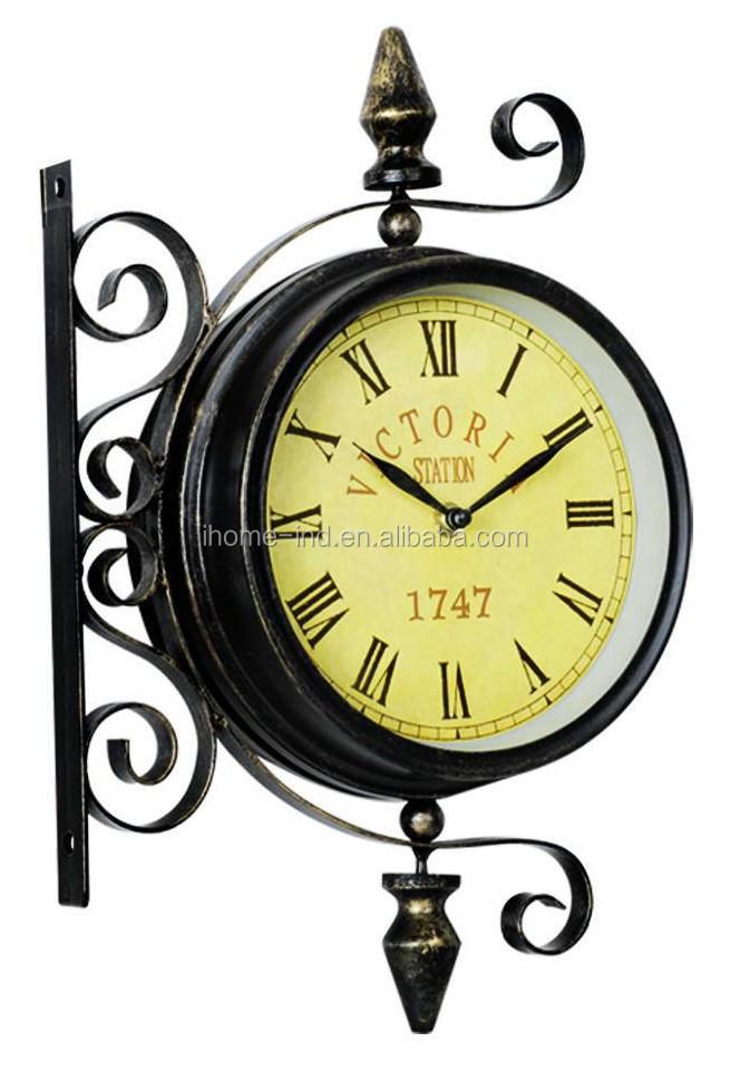 Classics Garden Metal Clock Large Outdoor Waterproof Clock