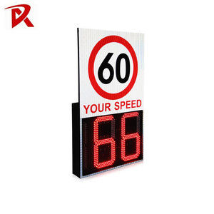 China Factory Solar Radar Speed Sign Road Traffic Safety Warning Sign
