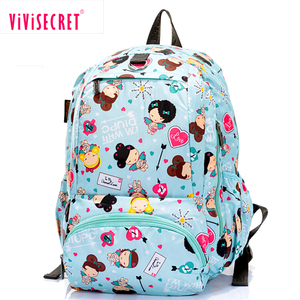 Digital pigment print colorful small cartoon backpack kids travel school bag 4-8 years old student used backpack