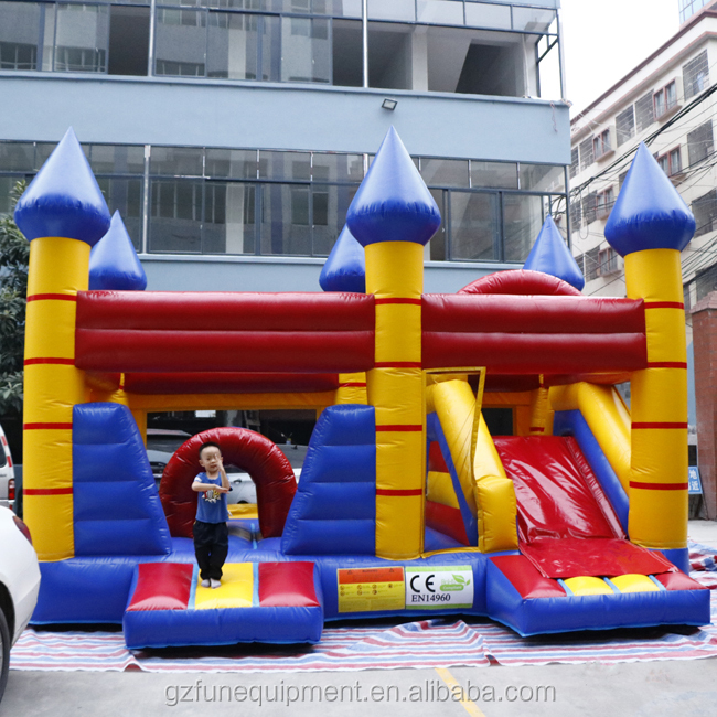 Commercial inflatable bouncer jumping castle bounce house with slide