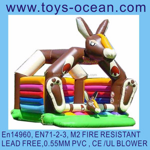 inflatable donkey bouncer/inflatable animal bouncers/air jumping castle