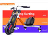 2016 hot 3 wheel smart drifting self balancing electric trike scooter