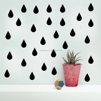 Cartoon Removable Raindrop Wall Decals Children Room Vinyl Wall Decals Set of 96pcs