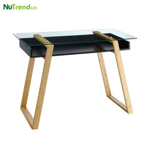 Unique designs glass top wooden study table designs and cabinet Sundance Desk