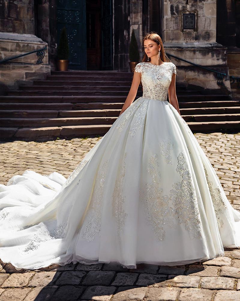 Crystal Design 2016 Wedding Dresses: Popular Monarch Train Wedding Dresses-Buy Cheap Monarch