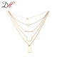 Newest zinc alloy women's 18k gold statement necklace design