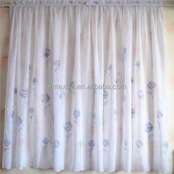 Transparent Pleated Sheer Curtain Fabric Ployester Fabric
