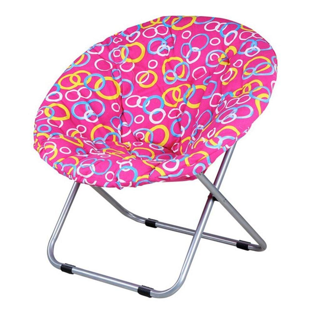Folding chair / Round folding chair / Moon chair / Lazy sofa chair / Leisure sun chair / Deck chair / Folding chair / Moon chair /Red circle folding chair / 75 75cm