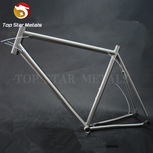 titanium road bike frame 700C titanium road bicycle internal shifter housing