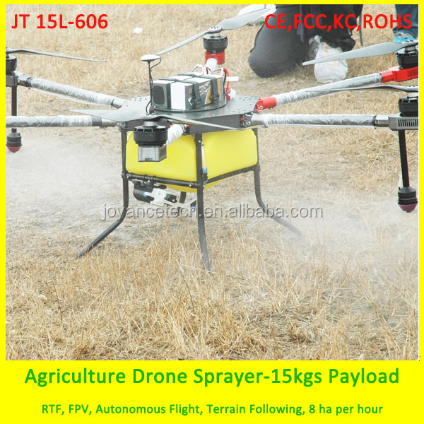 Li-Po battery charged agriculture sprayer drone , electrostatic nozzles drone on farm