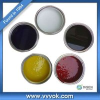 Screen printing ink for rubber