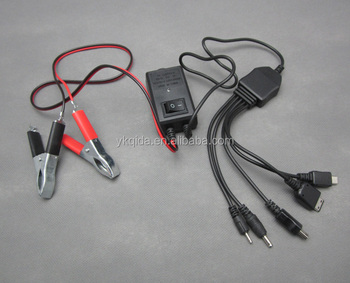 DC Mobile Phone charger with Clamp 5 in1
