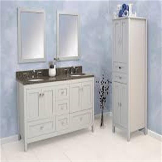 Custom 72 Inch White Double Sink Bathroom Vanity With Carrara