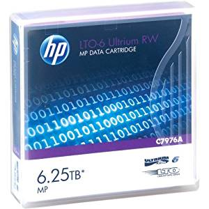 """Hp, Ultrium Rw Data Cartridge Lto Ultrium 6 6.25 Tb For Storeever Lto-6, Msl2024, Msl4048, Msl8096, Storeever 1/8 G2 Tape Autoloader """"Product Category: Storage/Storage Media"""""""