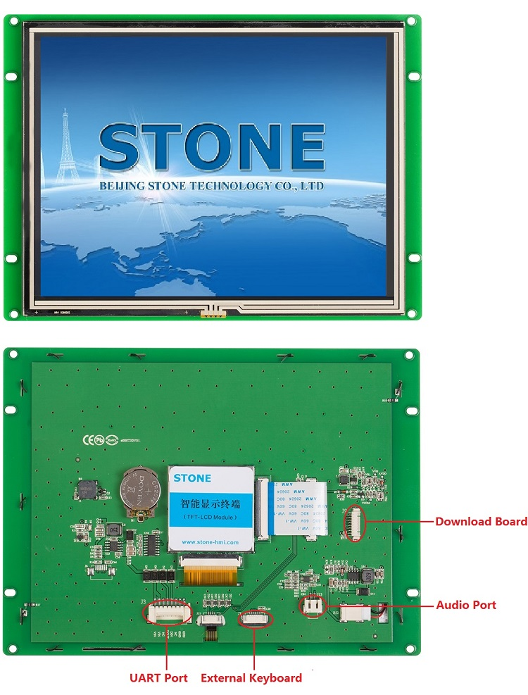 8 inch Embedded/ Open Frame TFT LCD Touch Monitor 800x600 STONE HMI STVI080WT-01