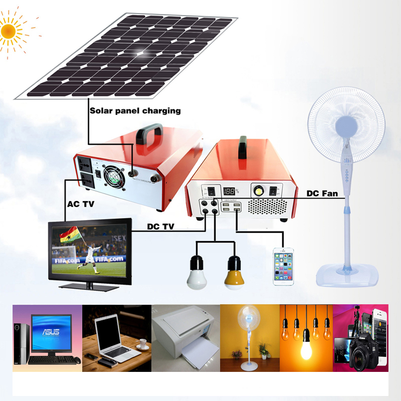 500W 1000w normal specification and home application portable solar power generator