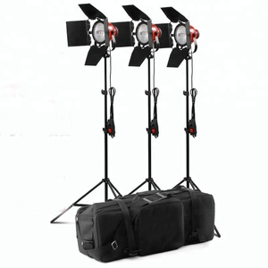 2400W Dimmable Tungsten Halogen Photo Video Hot Light Continuous Red Head Light Kit for Photography and Video