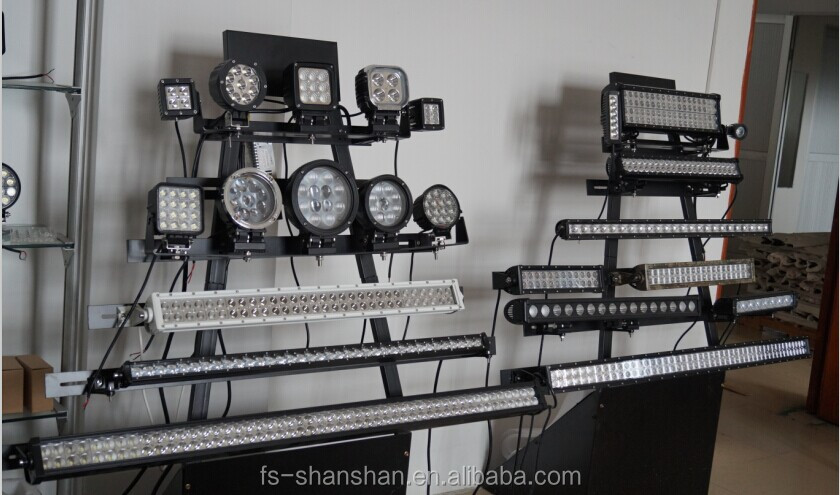 display stands with lights
