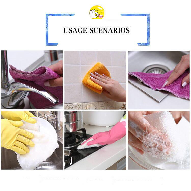Wholesale bamboo dish towels amboo Fiber Cleaning Rag Dish Wiping Kitchen Washing Towel