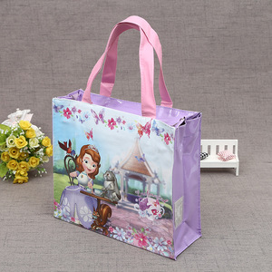 190T 210D recycled polyester foldable shopping bag with roll foldable cheap promotional fashionable folding rose shopping bag