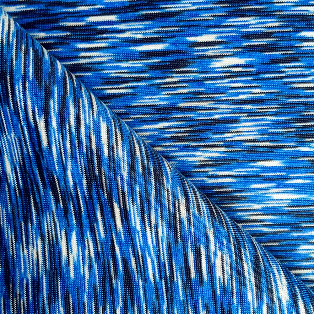 One side brushed space dye polyester spandex fabric for for Lycra space fabric