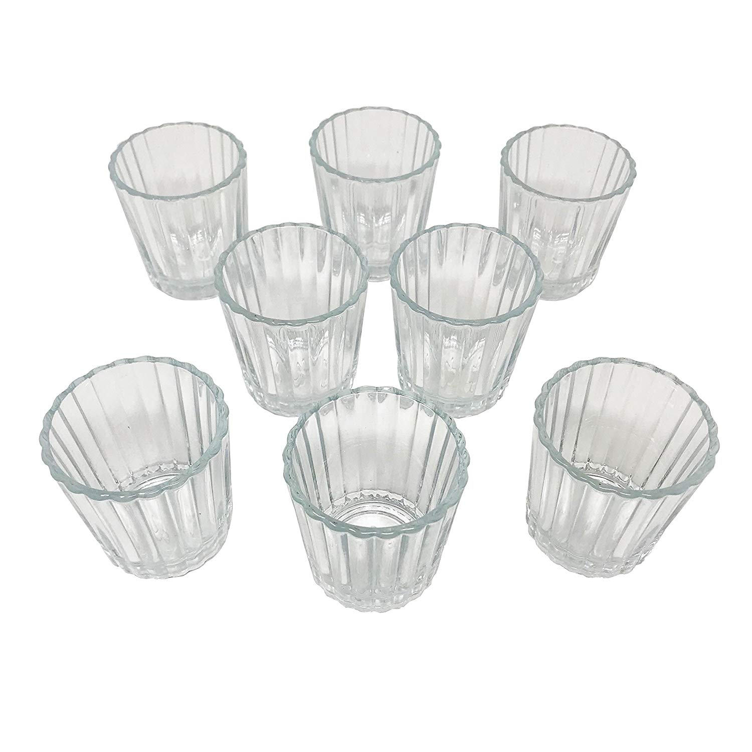 Set of 8 Mezcal Glasses, Vaso Veladora para Mezcal. Traditional Glass for Mexican Drinks With a Wide Mouth in Order to get the Aroma. It Also Serves as a Tequila Shot Glass.