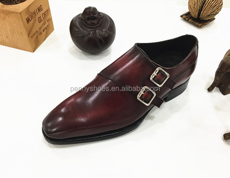 custom leather men's leather Manual imported soles shoes 6fq4XUd