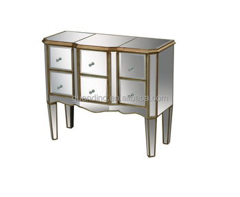 mirrored circled door chest for living room cabinet furniture