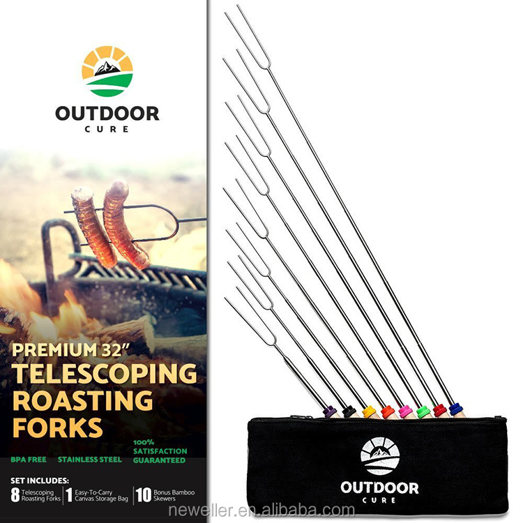 Logo branding natural color hot sell of roasting sticks with custom logo