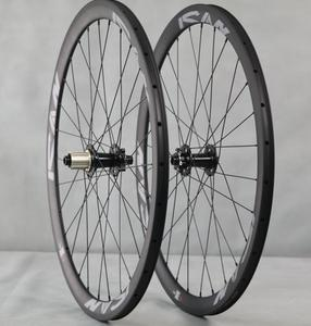OEM 38mm depth Powerway Or Novatec Hubs Carbon Disc Wheel 700c For Road / Cyclocross bike