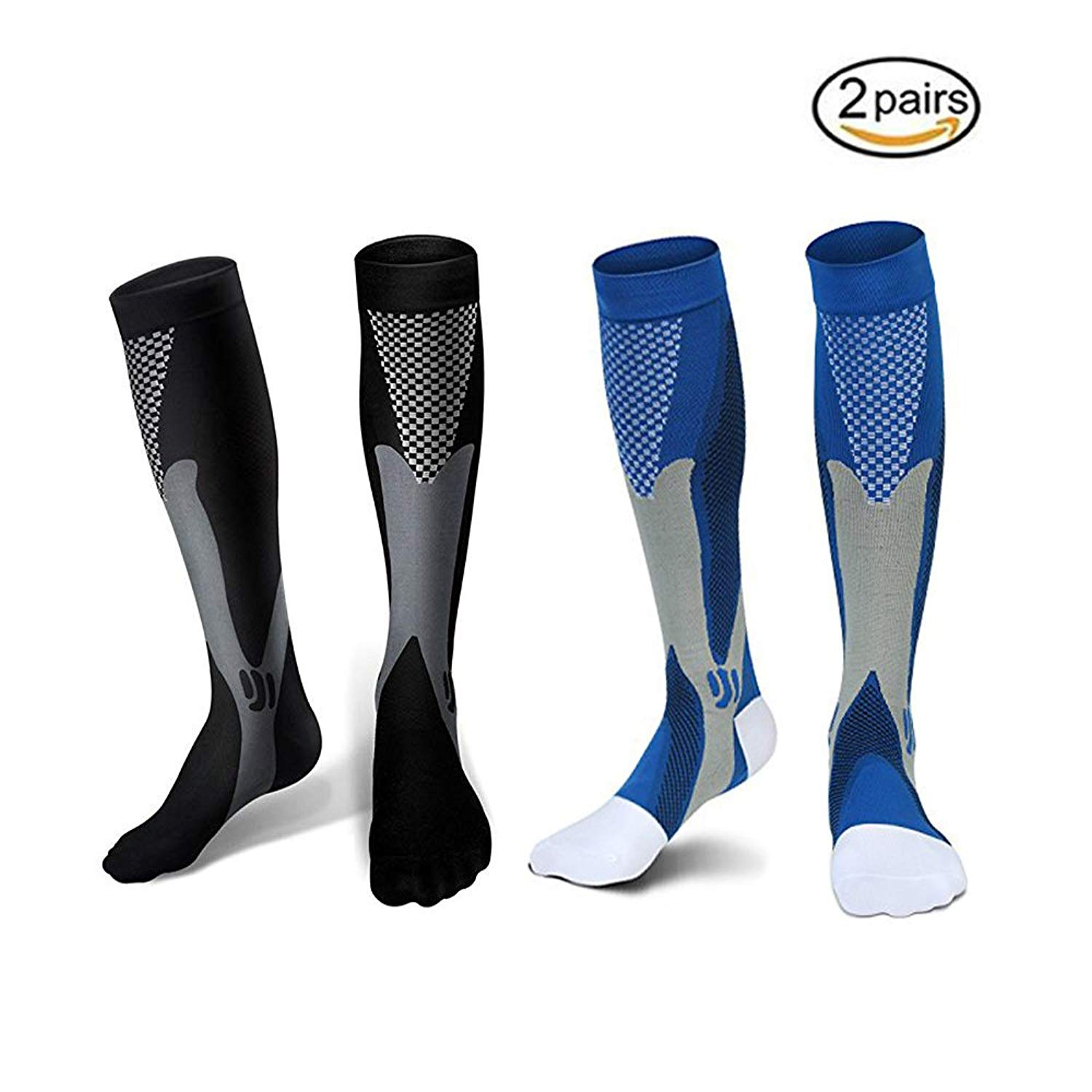ce8ebe01a9 Get Quotations · Compression Socks,Urwish Unisex Athletic Stockings for  Recovery-Nurses,Sports, Maternity,