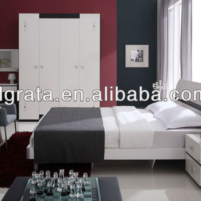 2013 Modern King Size Bedroom Set In High Gloss E1 MDF Board To Be Finished  For