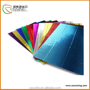 Hot silver metal corrugated paper from Chinese manufacturing