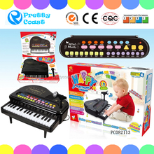 Plastic battery operated musical toy keyboard piano children electronic organ toys