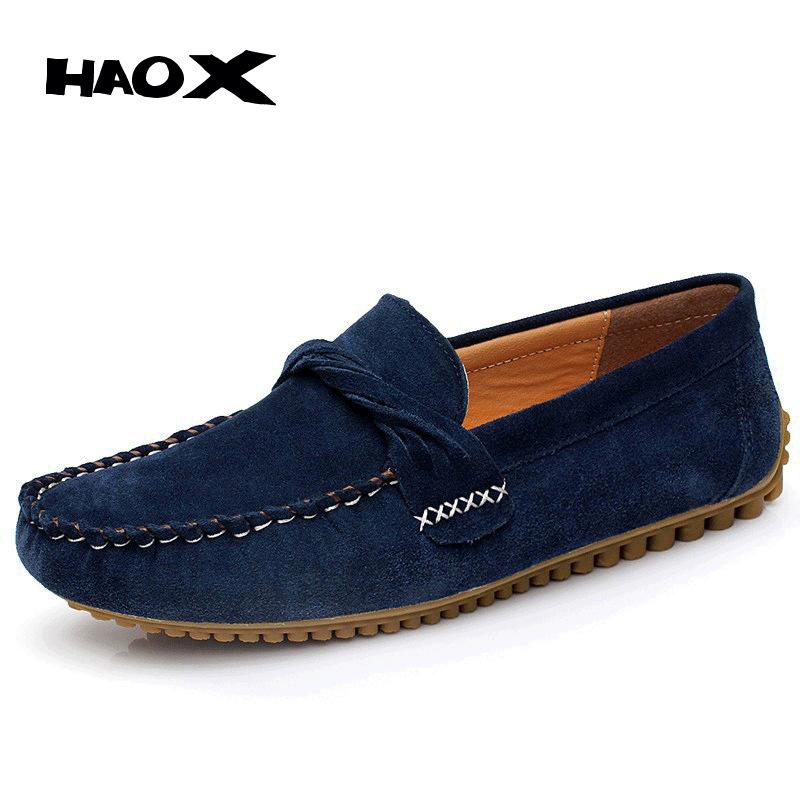 285e831b2d8 Get Quotations · HAOX High Quality Men s Genuine Leather Loafers Shoes  Fashion Dress Driving Work Shoes Famous Designer Men