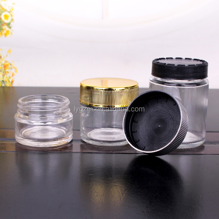 80ml 90ml 110ml delicate glass jar for cream container with childproof cap