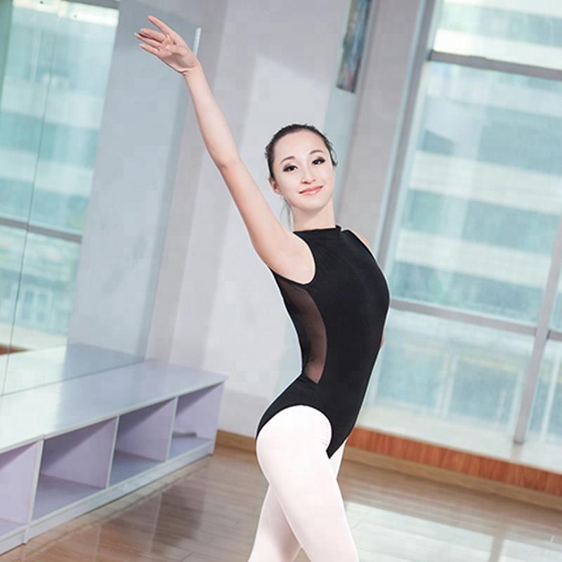 High Neck Mesh Leotard Women Ballet Dance Leotards