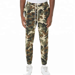 High quality men twill camo jogger pants