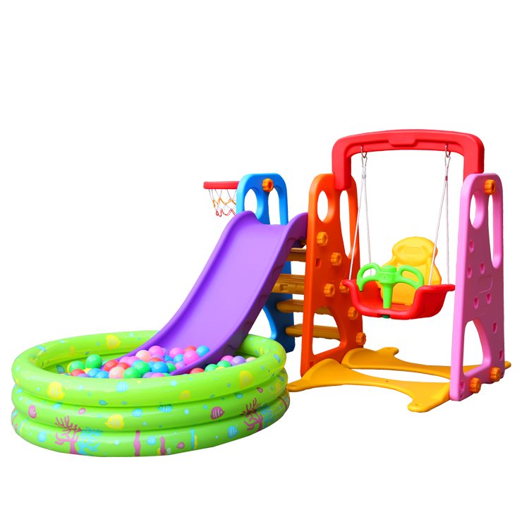 Kindergarten Indoor plastic slide and swing playground equipment set for <strong>kids</strong>