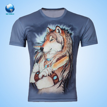 O-neck t-shirt/Made in China T-shirt Printing For Men And Women With Custom Logo/sublimation polyester shirt